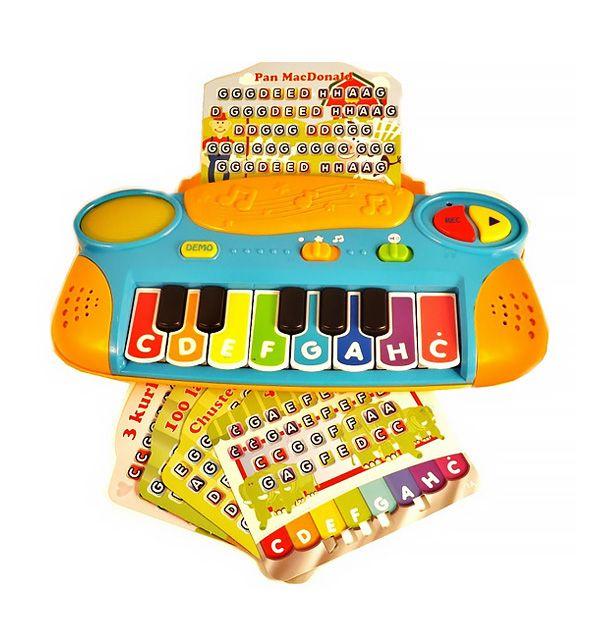 """Pianinko edukacyjne """"Gram z nut"""" od firmy Smily Play to idealna zabawka dla każdego dziecka!  #zabawki #nauka #supermisiopl"""