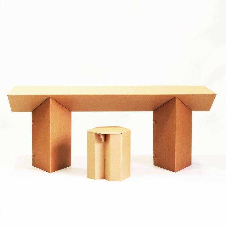 Table and chair out of cardboard     Cardboard furniture from Berlin      STANGE DESIGN Pappmöbel (Berlin)    Möbel aus Pappe  http://www.pappmoebelshop.de/wohnen/tisch-tabula-rasa.html https://www.facebook.com/pappmoebel
