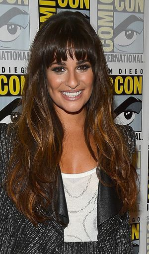 See 20 amazing hairstyles featuring fringe bangs on celebrities including Hailey Baldwin, Olivia Wilde, Lea Michele and Bella Thorne.: Lea Michele's Fringe Bangs