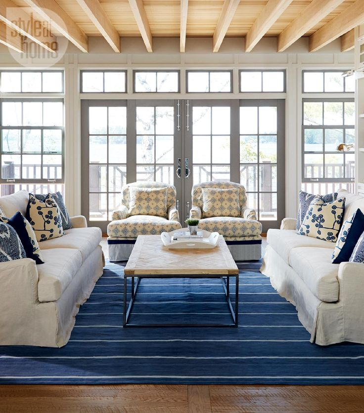 Cottage style neutral nautical lake house photo michael graydon