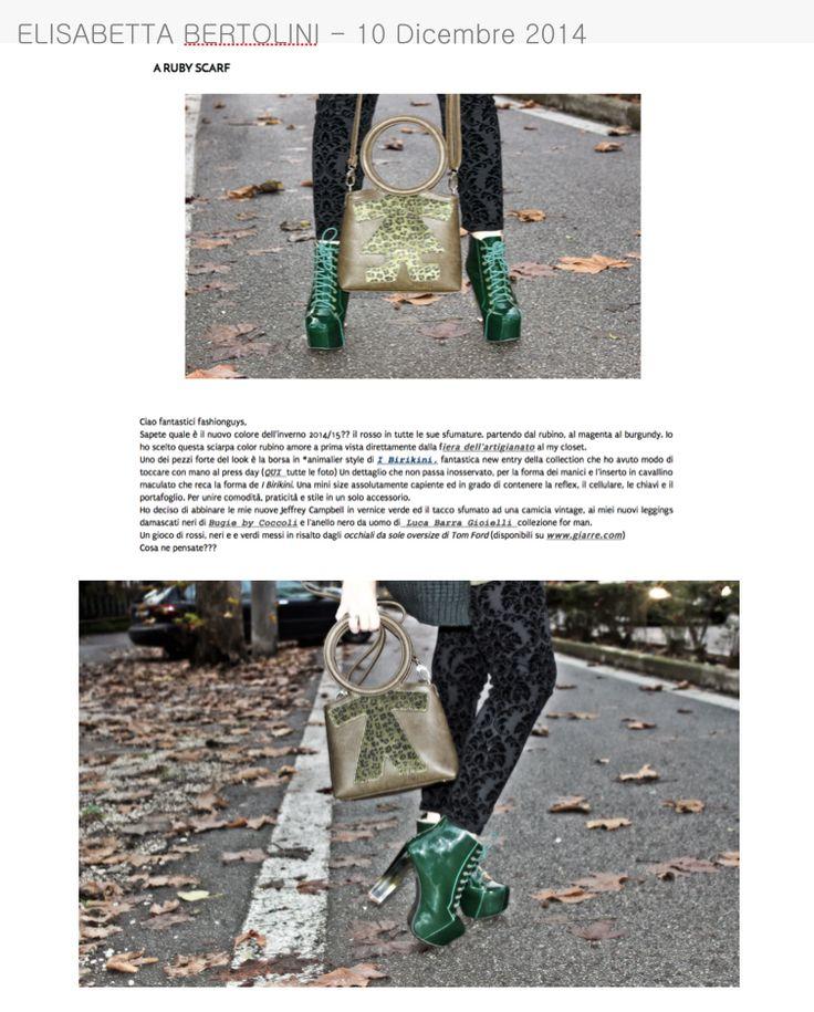 Elisabetta Bertolini il 10 dicembre 2014 parla delle borse #biribag www.ibirikini.com - info@ibirikini.com