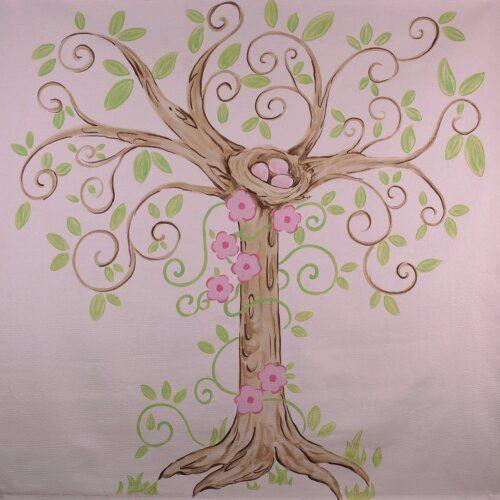 Best 25 nursery tree mural ideas on pinterest nursery for 7 habits tree mural