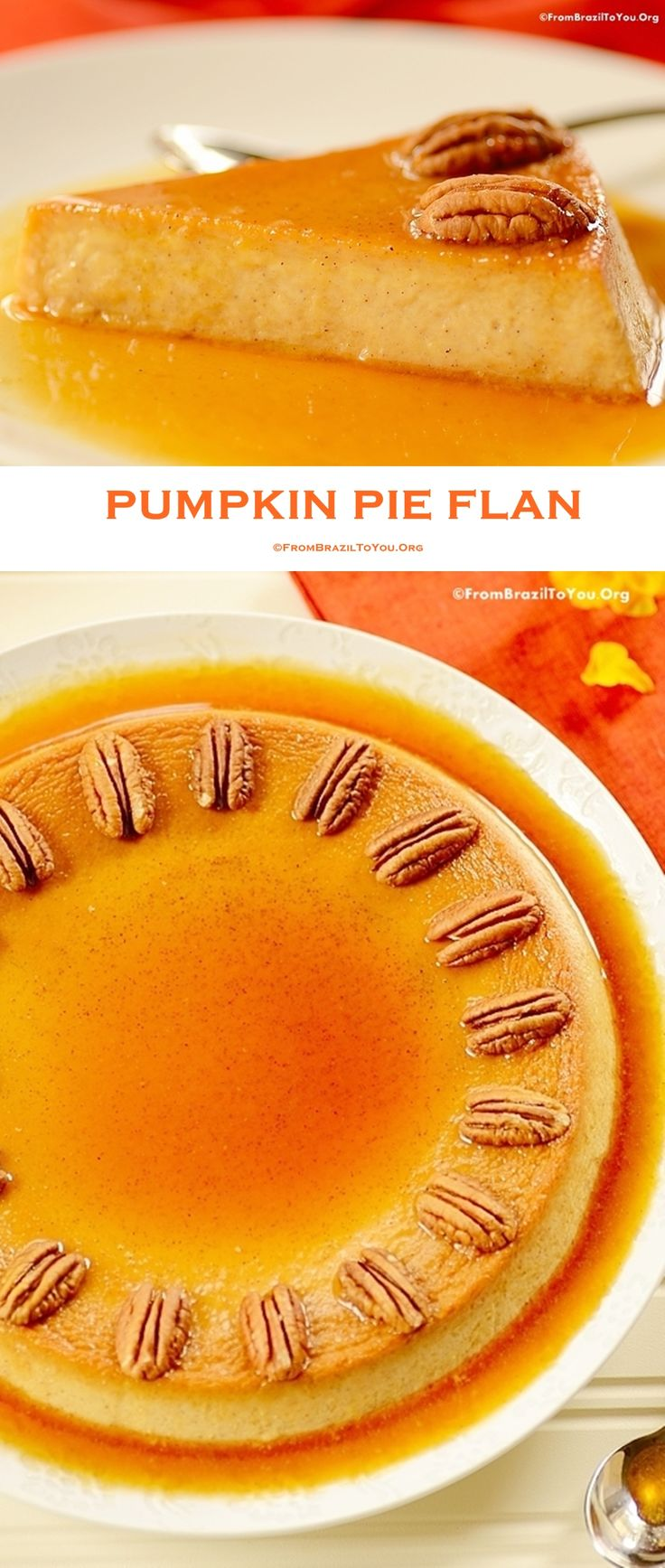 A step-by-step, delicious Pumpkin Pie Flan recipe  infused with spices, to celebrate the season.