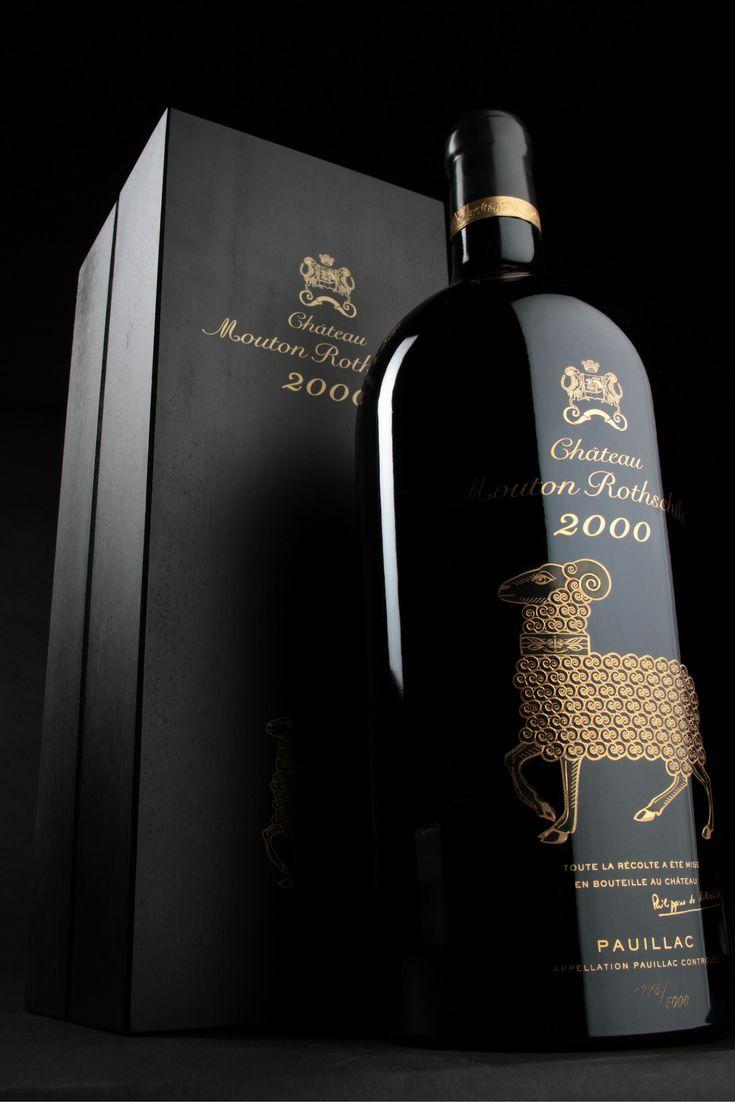 Jéroboam (4.5L) - Château Mouton Rothschild 2000  #Pauillac #VinMillesima #GrandFormat #Bordeaux  (© Photo : Millésima)