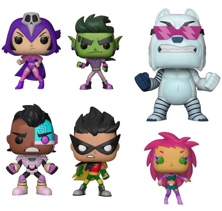 Funko TV Pop! - Teen Titans Go! The Night Begins to Shine S1 - Set of 6