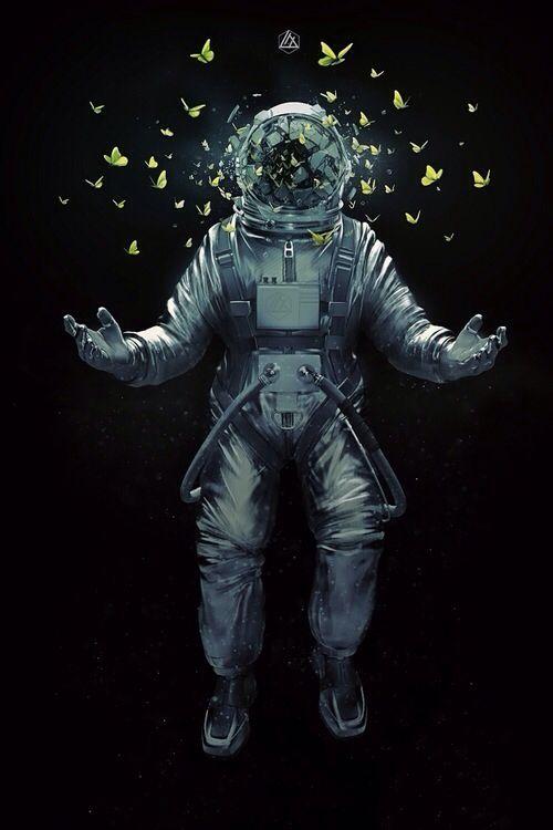 Космонавт арт рисунки