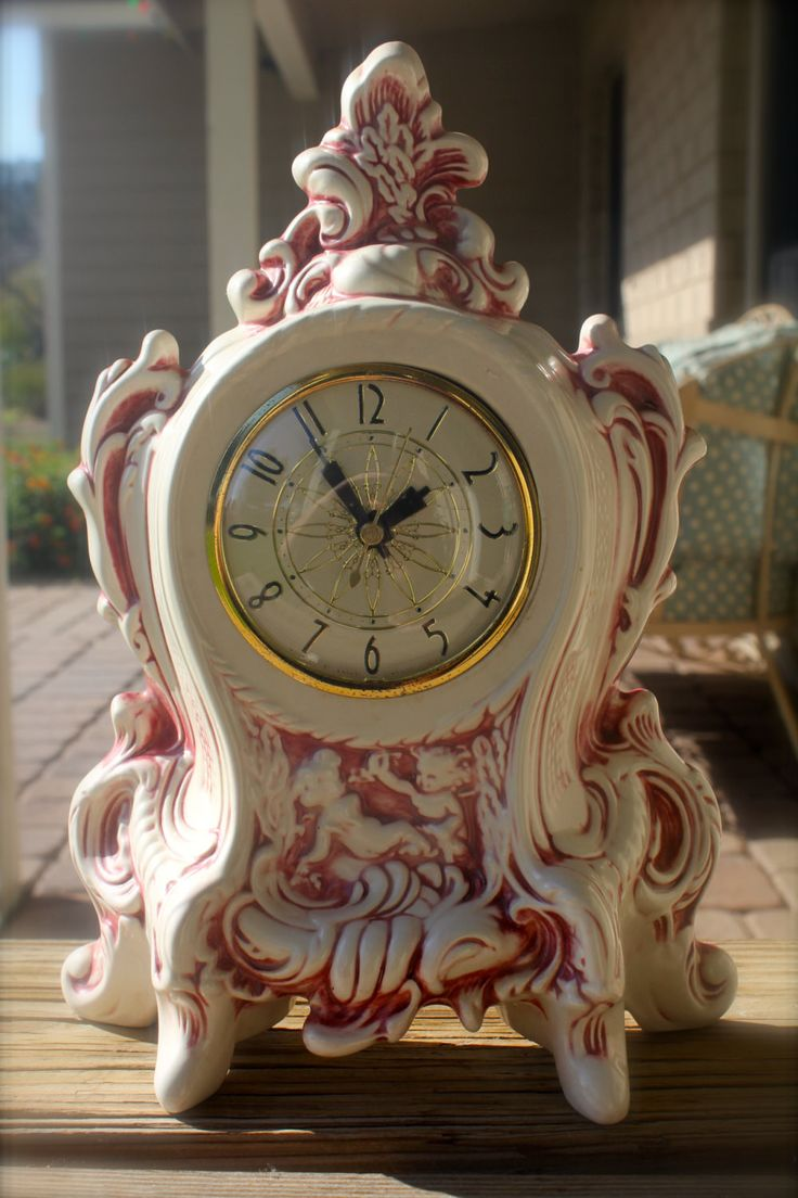 Lanshire Porcelain Mantle Clock With Upcycled Quartz