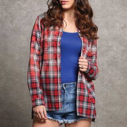 #GetTheLook. Pair up a check shirt with shorts. It will make everyone go WOW!!