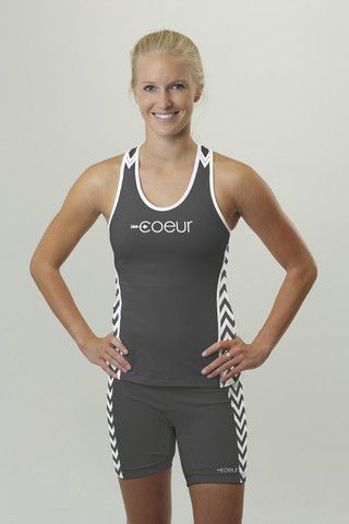 Women's triathlon top in chevron design // Coeur Sports