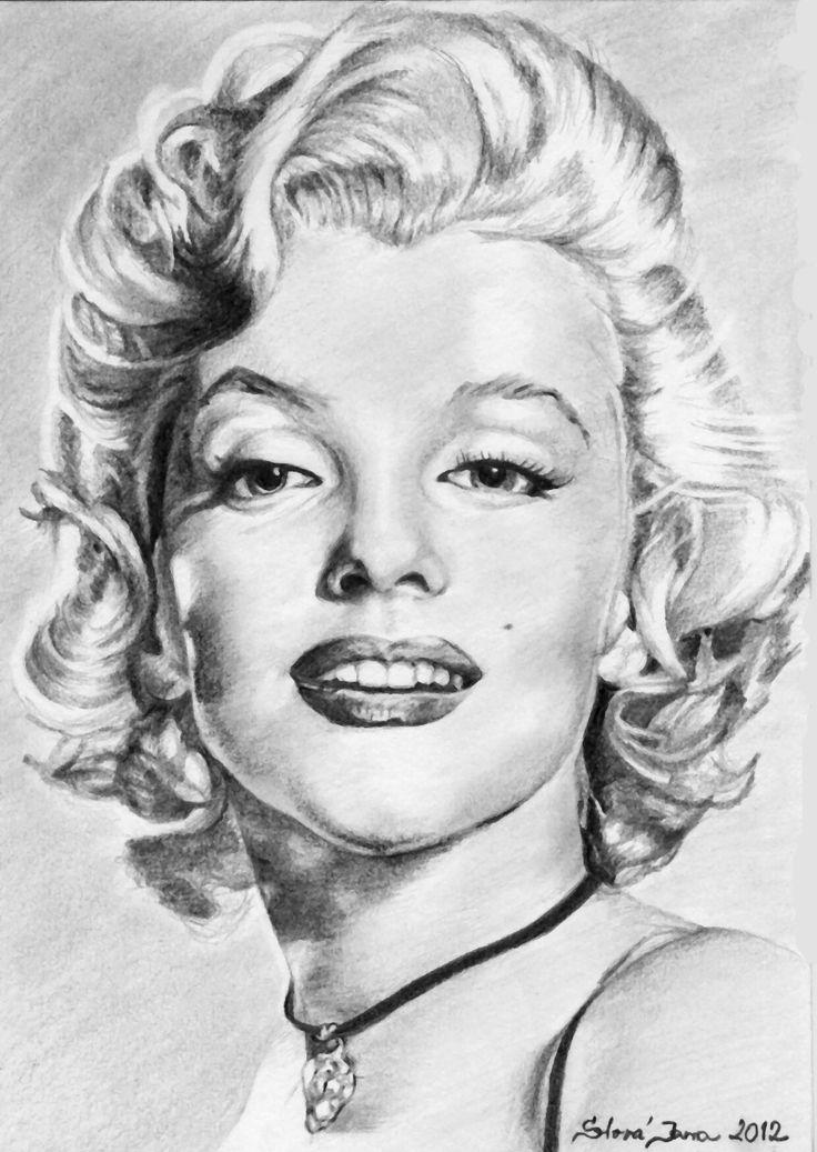 Marilyn Monroe - A4, tužky