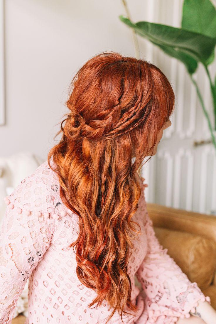 Ha Hair Accessories For Apostolic Long Hair - Braided wavy boho hair tutorial
