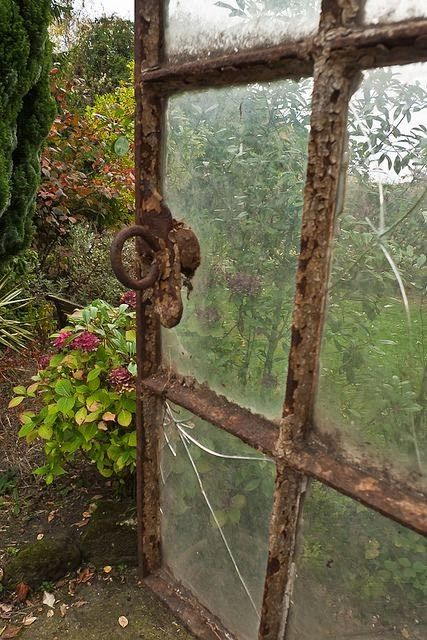 great old crusty rusty window