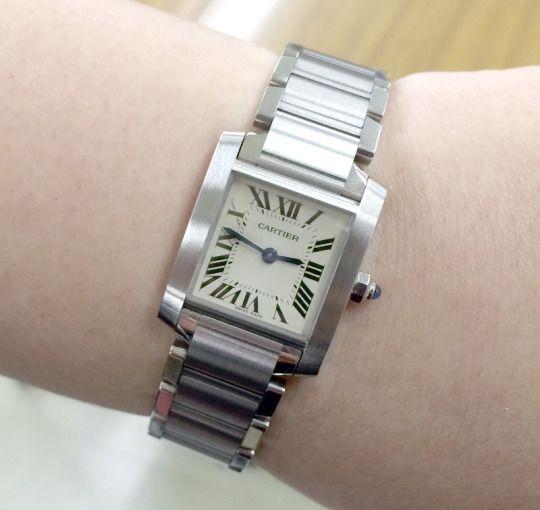 ★MY様/カルティエ - タンク フランセーズ ☆大病にかかり治癒した!そんな節目に購入しました。  〝人生の節目に腕時計を〟