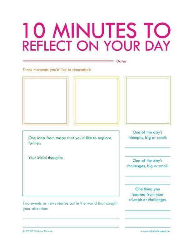 10 minutes to reflect on your day