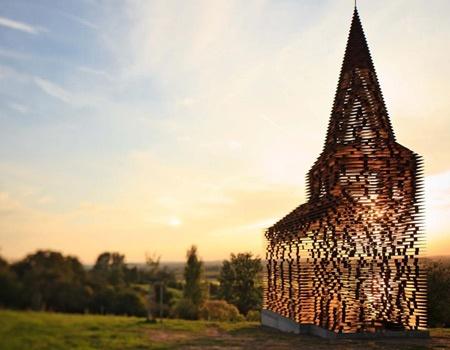 transparent church, belgium