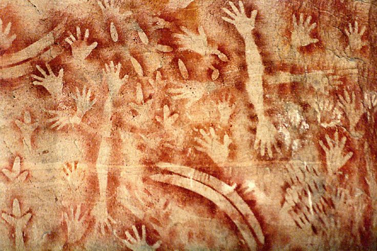 Aboriginal cave art dated at 3,500 years old in Carnarvon Creek Gorge in central western Queensland.