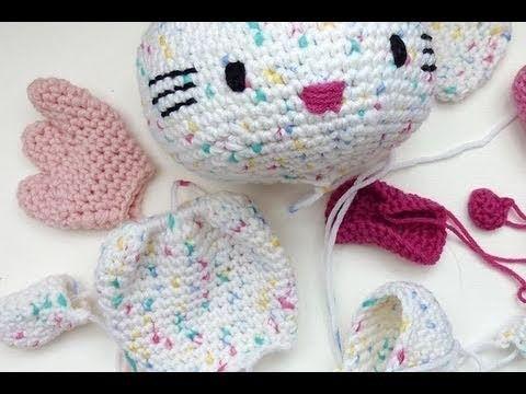 Amigurumi Hello Kitty Tejiendo Peru : Hakeln * Hello Kitty Engel * Teil 5 * Fl?gel, Schleife ...
