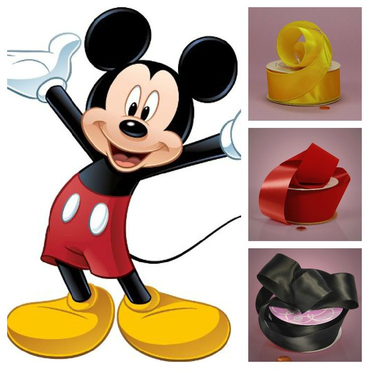 Mickey mouse birthday ribbon to tie silverware