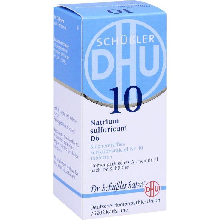 BIOCHEMIE DHU Schüssler Salz 10 Natrium sulfuricum D6 Tabletten:   Packungsinhalt: 80 St Tabletten PZN: 00274654 Hersteller:…