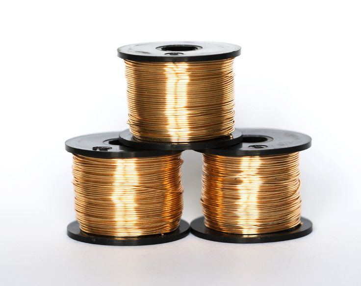 21811_Gilt wire 22 gauge, Gold jewelry wire 0.6mm, Copper wire, Gilt craft wire,  Wire reel, Golden wire, Wire wrap, Colored wire_55 m. by PurrrMurrr on Etsy