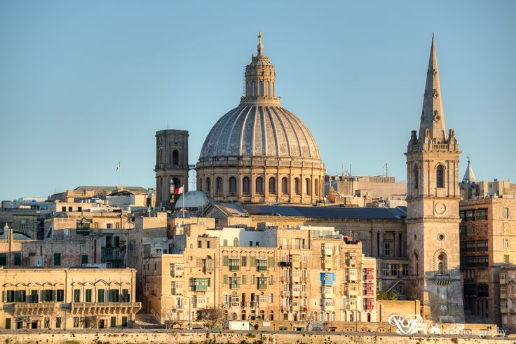 Valletta photographed from Sliema.