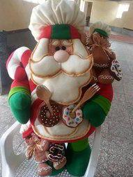 Papa noel cookies