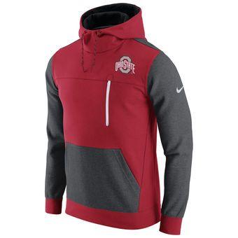 Nike Ohio State Buckeyes Scarlet/Charcoal AV15 Fleece Pullover Hoodie