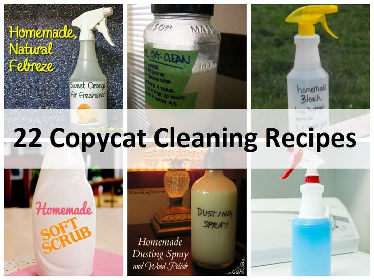22 Must Have Copycat Cleaning Recipes