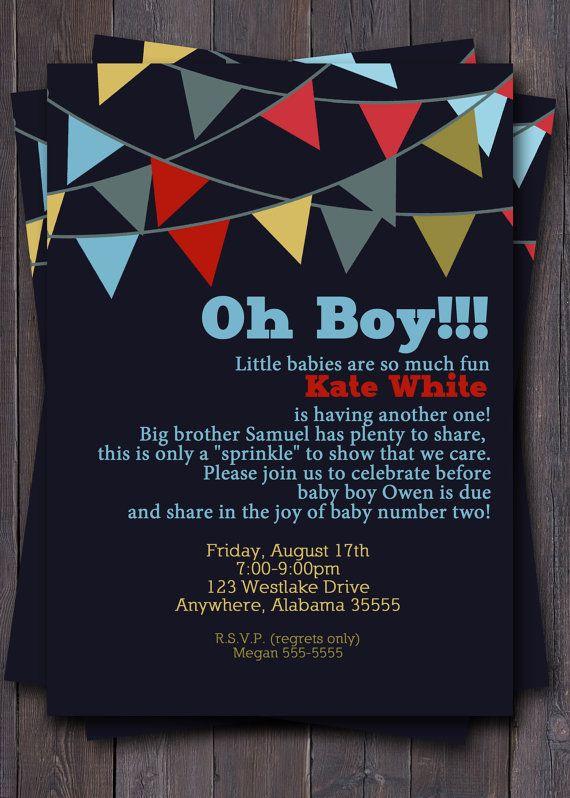 Banner/Bunting Baby Shower Invitation Baby by sullivandigidesigns