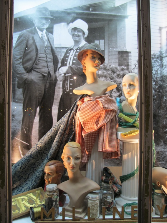 Historical Purfex mannequin exhibition at Lopdell House Gallery. 1940's.