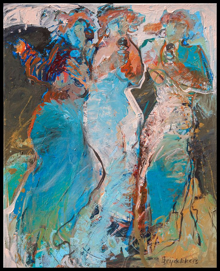 """""""Singing a Song"""" acryl op doek 65x50 cm info via mijn website www.leijdekkers.nl"""