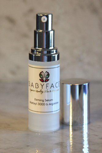 Babyface Argireline and Matrixyl 3000 Concentrated Firming Serum 1.1 ounce by Babyface. $23.99. Firms and Tones. Tightens Sagging Skin. Anti-Aging Powerhouse!. Smoothing Serum. Stimulates Collagen Production. A brand new formula containing two high-potency ingredients to fight against wrinkles & sagging - Matrixyl 3000 and Argireline. High concentrations of each, so that with continued use, you will see results.   Babyface's Firming Serum is a high-potency formula, and is very ef...