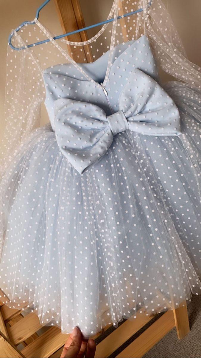 Beautiful Dress In White Polka Dot Polka Dot Dress For Girls Birthday Dress Baby Gowns Girl Kids Designer Dresses Kids Dress Patterns [ 1200 x 675 Pixel ]
