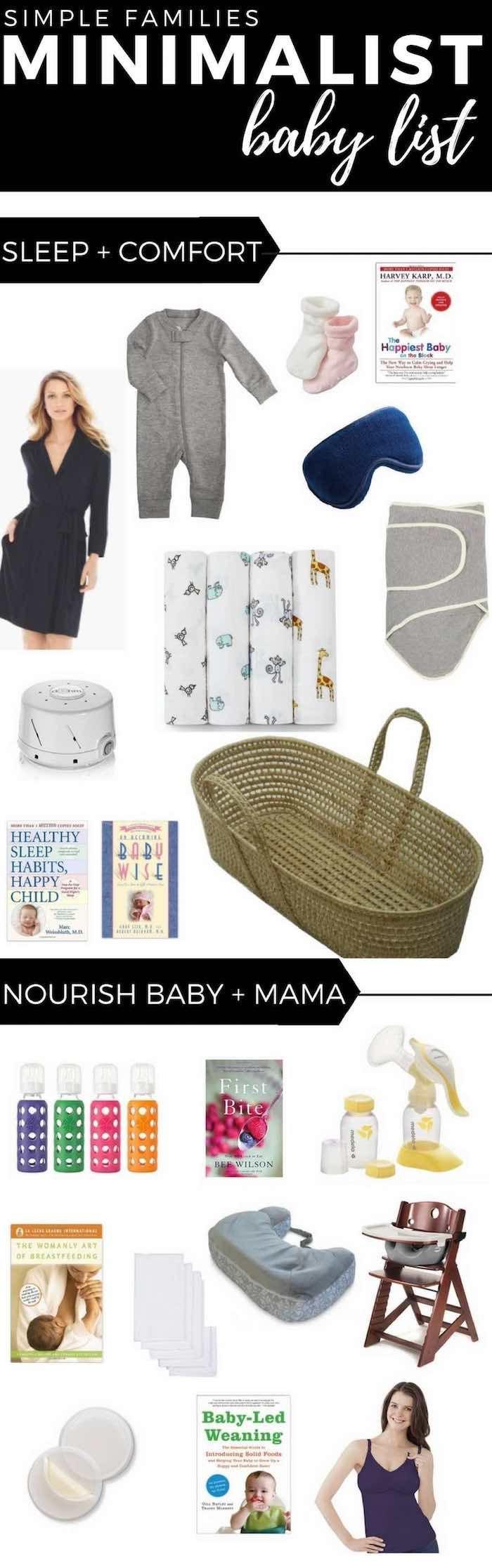 Minimalist Baby Registry | Simple Baby Registry | Minimalist Baby List | Minimalist baby gear | minimalist baby clothes