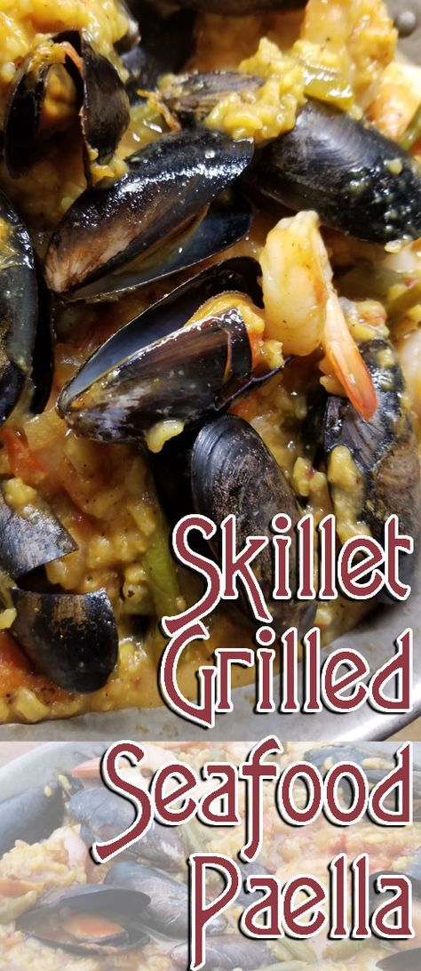 This is making my mouth water again just thinking about how decadent and delicious it is! Rice and vegetables prepared in a bath of chicken stock, wine, and super-aromatic seasonings. Top that off with mussels and shrimp. One of the best recipes ever!