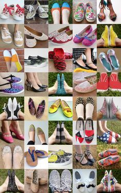50 DIY shoe makeovers! #shoes #diy #crafts
