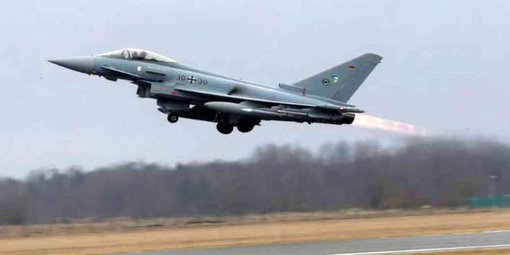 "Top News: ""EUROPE POLITICS: Europe Faces Herculean Task to Develop New Combat Jet"" - http://politicoscope.com/wp-content/uploads/2017/06/Europe-News-German-Air-Force-Eurofighter-Typhoon-takes-off-during-the-air-policing-scramble-in-Amari-air-base-Estonia.jpg - U.S. President Donald Trump's cooler stance toward Europe had given the effort some fresh momentum.  on Politics - http://politicoscope.com/2017/06/25/europe-politics-europe-faces-herculean-task-to-develop-new-combat-je"