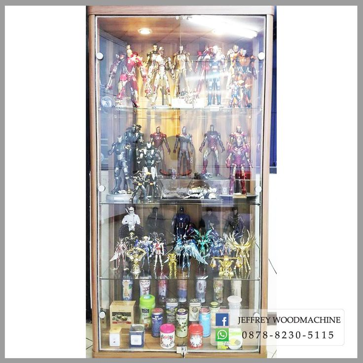 display cabinet, lemari pajangan, lemari pajang kaca, toys, jeffrey woodmachine, rak pajang, gundam, shf, gundam, hot toys