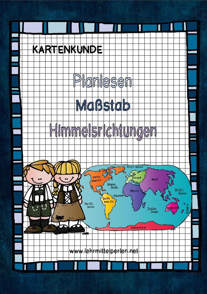 Kartenkunde Planlesen Maßstab Himmelsrichtungen