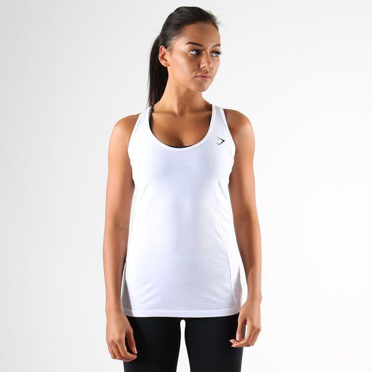 Gymshark Tempo Vest II - White at Gymshark UK | Be a visionary.