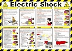 ELECTRIC SHOCK HEALTH AND SAFETY POSTER - New Version