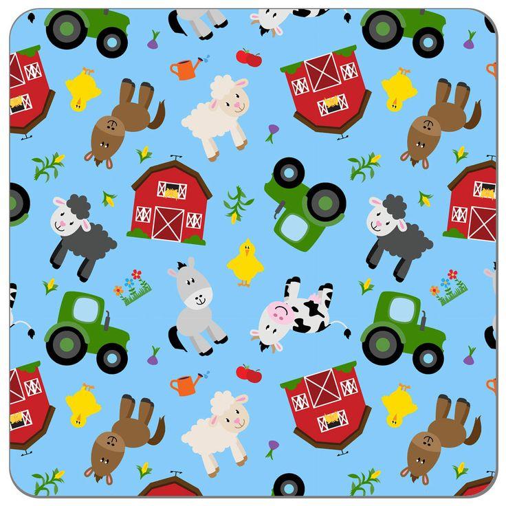 Happy Farm Print PUL Fabric   Diaper Sewing Supplies