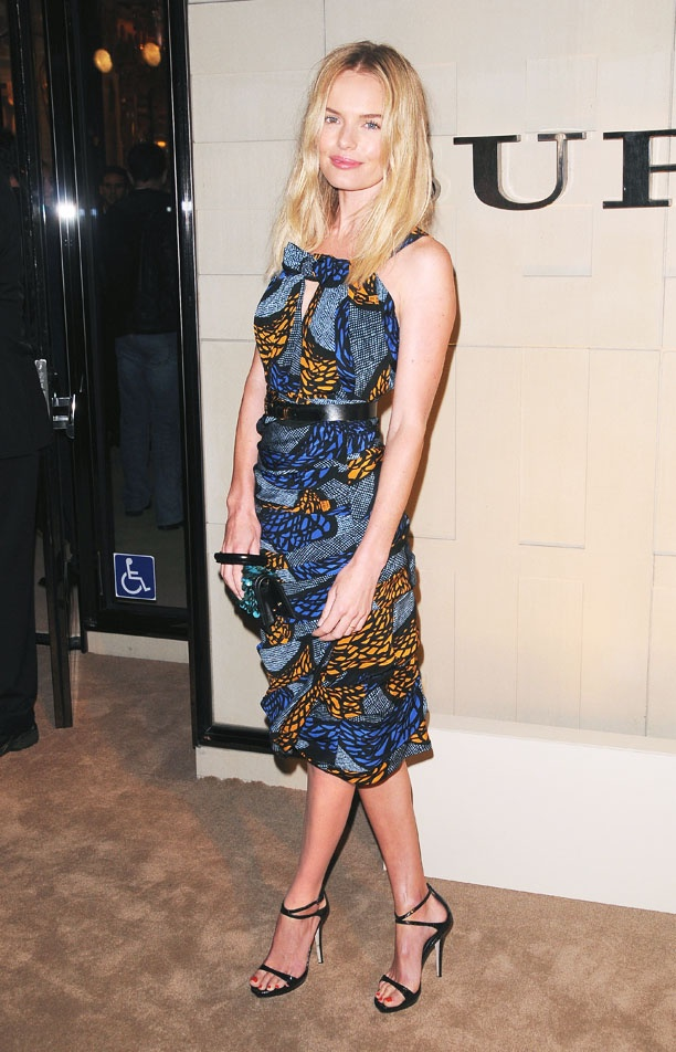 Printed: Classy Style, Kate Bosworth, Dresses Prints, Dresses Obsession, Celebs Style, Blue Shoes, Style Pinboard, The Dresses, Fun Dresses