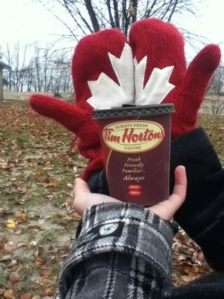 Tim Hortons Every Cup Story - My boyfriend and I first met at Tim's and have been together for over 5 years now - truly Canadian!