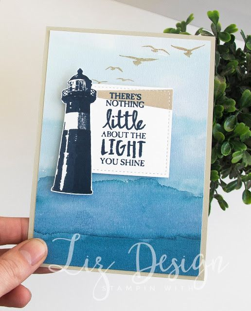 Stampin Up High Tide Card #GDP081 Stampin with Liz Design