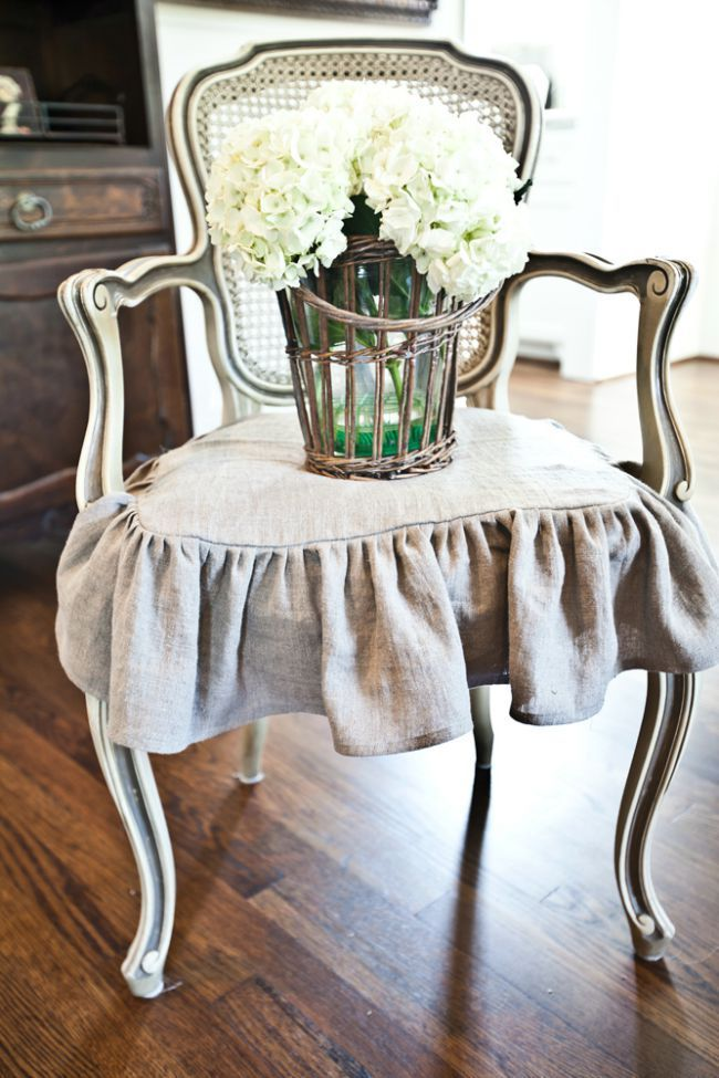 French slipcovered chair from Cedar Hill Farmhouse