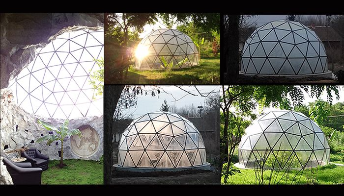 Earth sheltered sustainable homes Custom Glass Geodesic Dome House www.biodomes.eu