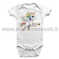 Body Bambino Baby Unicorno Arcobaleno