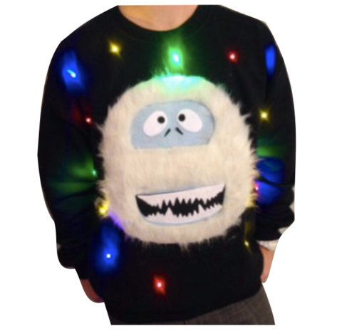 "Ugly Christmas Sweater ""Light Up"" - Abominable Snowman - Light Up Christmas Sweater - Christmas Jumper _____**Fast Shipping**_____"