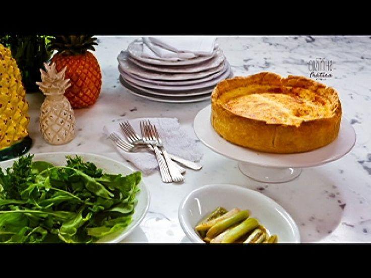 Quiche de queijo branco com alho-poró: veja a receita da Rita Lobo - Receitas - GNT